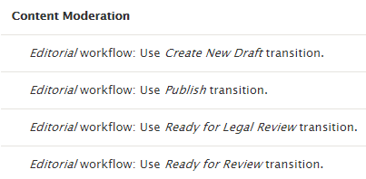 Webdrips Drupal 8 Demo Workflows Module State Transition Permissions by Role