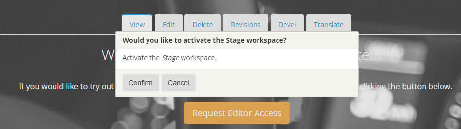 Webdrips Drupal 8 Demo site Workspaces module activate staging confirmation